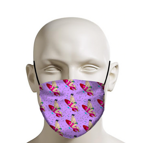 Rocket Cheesecake Boy Male Pinup Face Mask