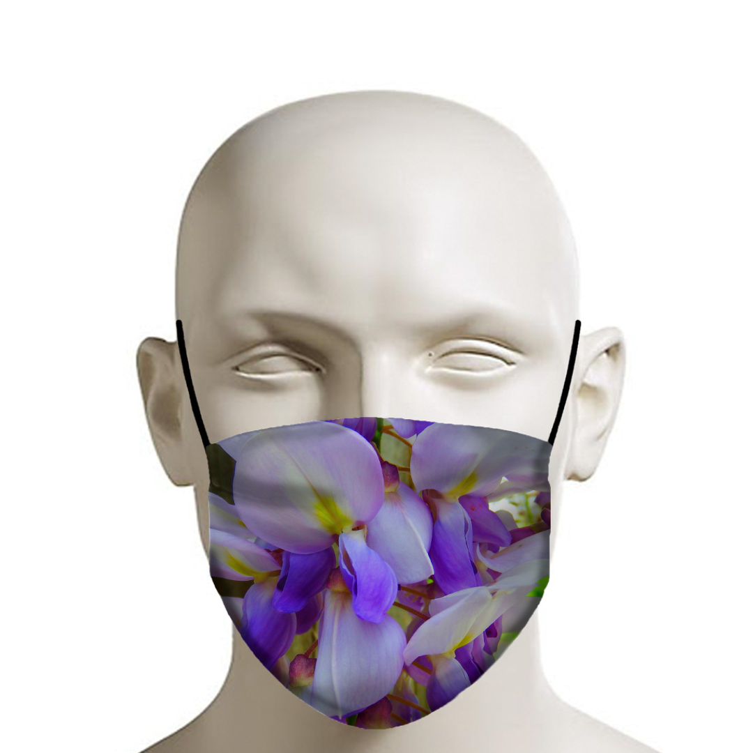 Wisteria Blooms Face Mask