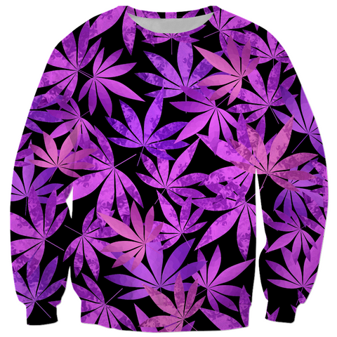 Purple Weed Sweatshirt
