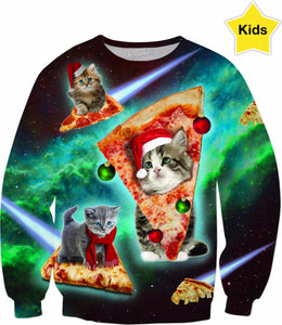 Meowy Christmas Kids Sweatshirt