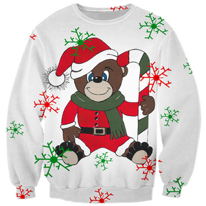 Merry Christmas Teddy Bear Kids Sweatshirt