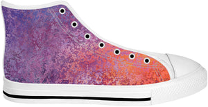 Purple And Orange Metal Like High Tops