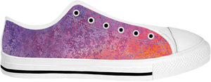 Purple And Orange Low Tops