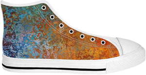 Teal And Orange High Top Shoes