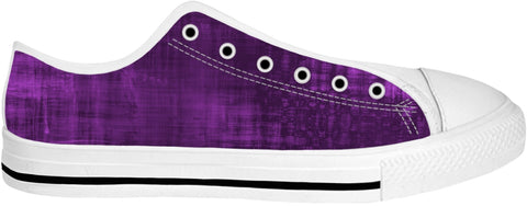 Purple Low Top Shoes