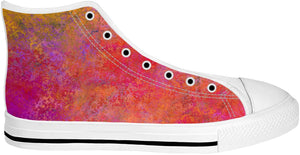 Pink Orange High Top Shoes