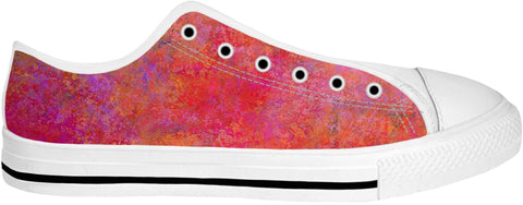 Pink And Orange Low Top Shoes