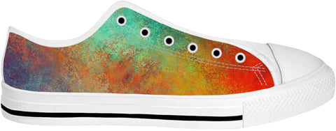 Aqua Orange Low Top Shoes