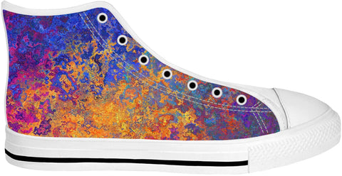 Blue Yellow High Top Shoes