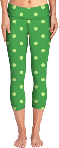 Green Polka Dot Yoga Pants