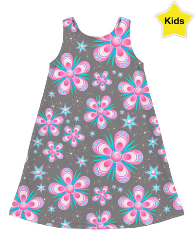 Garden Flowers Kids Dress