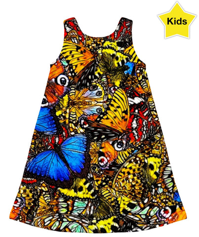 Butterflies Kids Dress