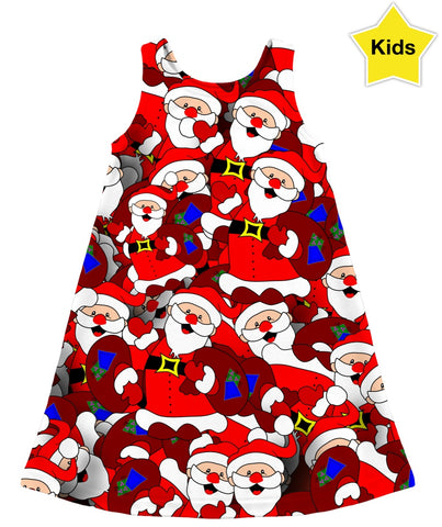 Santa Claus Camo Kids Dress