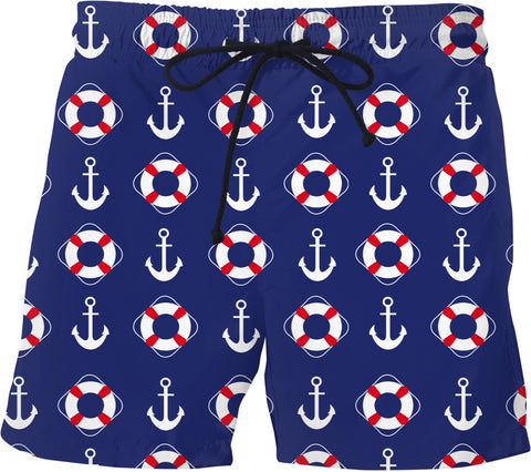 Anchors And Life Savers Swim Trunks