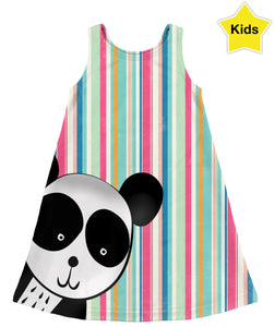 Panda Peeks Kids Dress