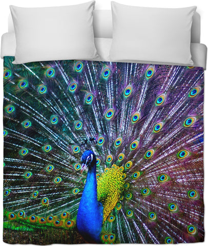 Pretty Peacock Duvet Cover