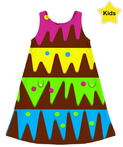 Melted Layers Of Fun Kids Dress