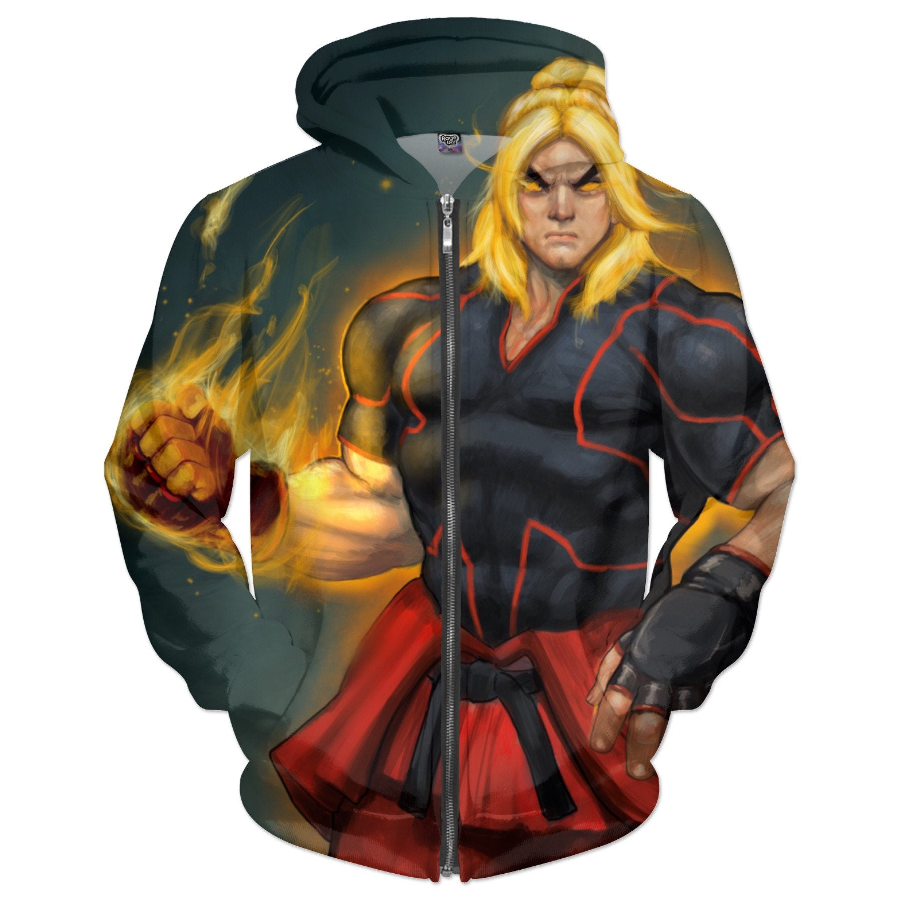 Ken Masters Art By Picasso Dular Tribute To Street Fighter Hoodie