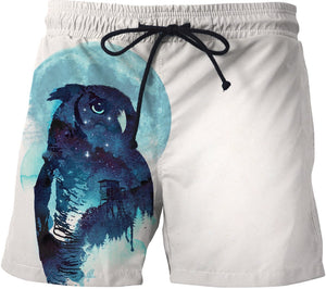 Midnight owl Swim Trunks
