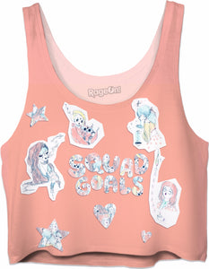 Squad Goals peach Crop Top