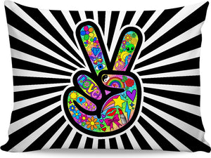 Funky Peace Sign Pillowcase