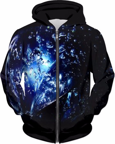 Abstract Blues Hoodie