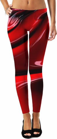 3 Red Fractal Leggings