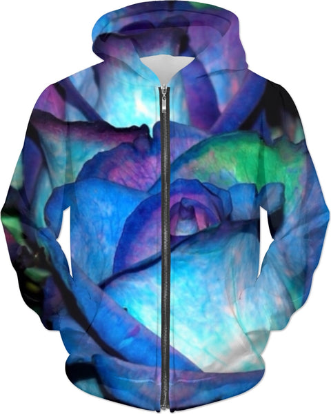 Watercolor and Roses Adult Hoodie
