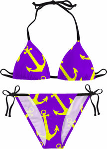 AHOY Bikini Anchors Purple