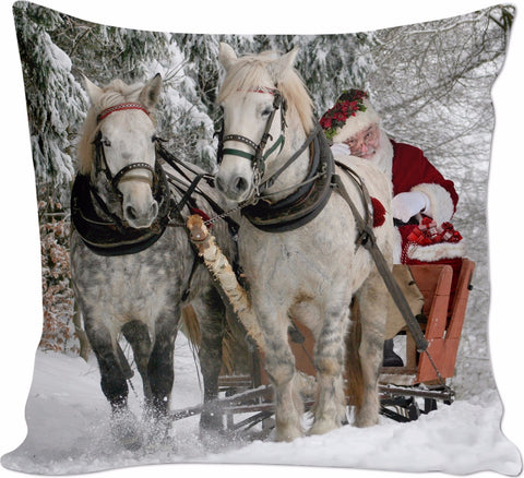 ROCP Christmas with the Horses Couch Pillow