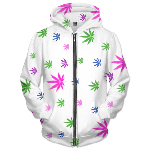 Pretty Pothead Zip-Up Hoodie
