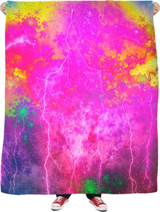 Blue And Pink Prophecy Fleece Blanket