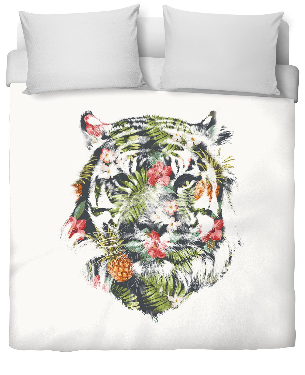 Tropical tiger Duvet Cover