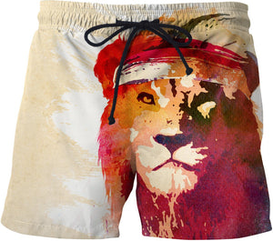 Gym lion Swim Trunks