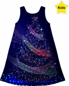 Blue Christmas Children's Dress