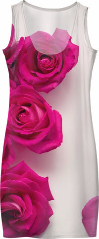 ROWD Pink Roses Women's Dress
