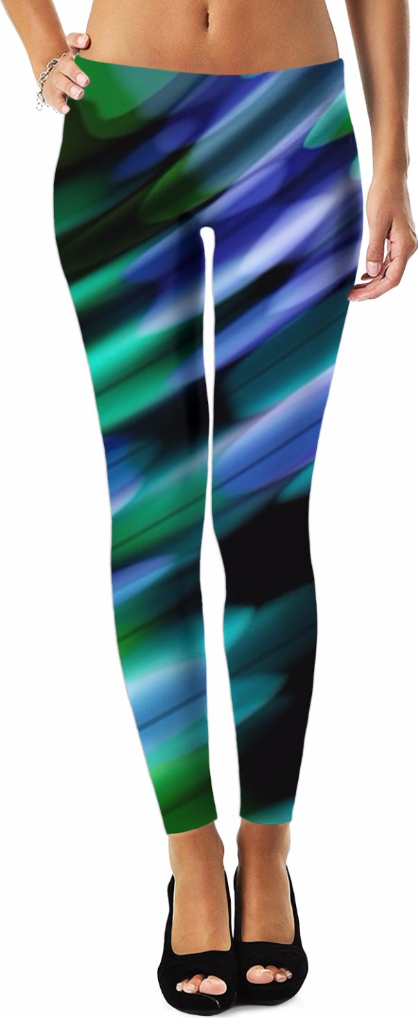 Green Purple Obsession 4 Leggings