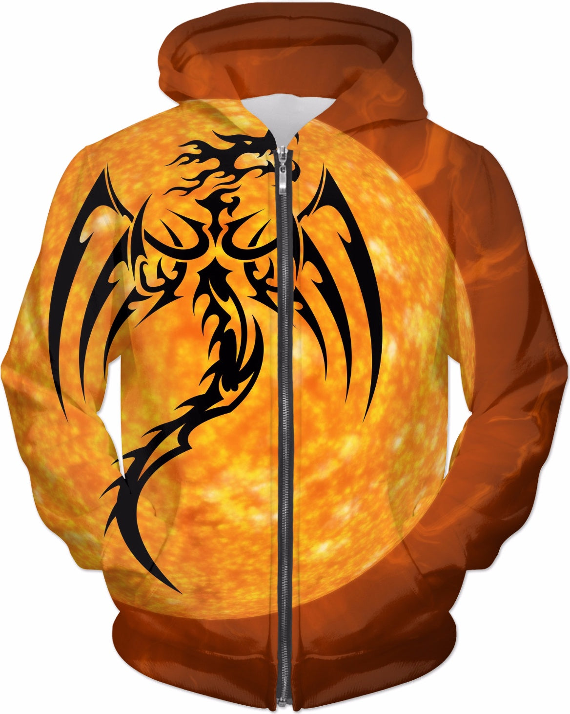 Dragon in the Sun Hoodie