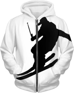 Downhill From Here Adult Hoodie