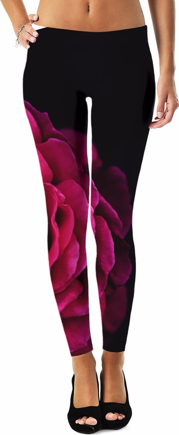 Black and Pink Women's Leggings/Plus Sizes Available/XS - 5XL