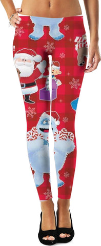 Abominable Snowman Leggings/Plus Sizes Available/XS - 5XL