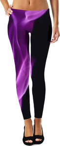Black Purple Flame Women Leggingsp
