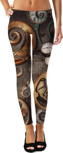 Unique Steampunk Inspired Women's Leggings