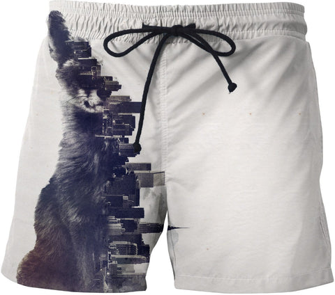 Fox from the city Swim Trunks