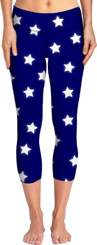 ROYP Stars - Navy Yoga Pants
