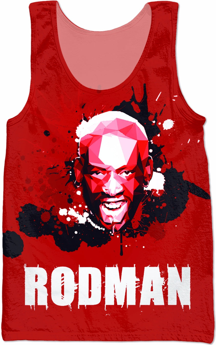 Dennis Rodman All-Over-Print Sublimated Tank