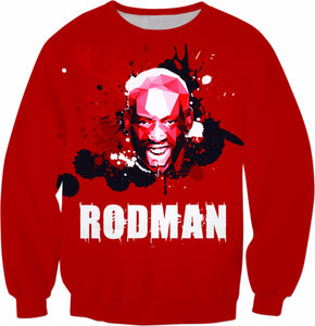 Red Rodman All-Over-Print Sweatshirt