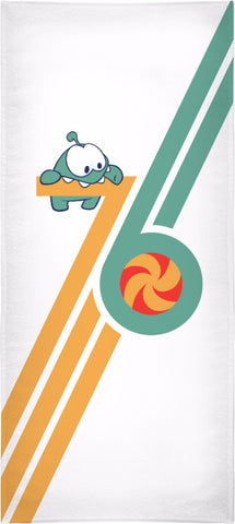 Om Nom 76 Beach Towel