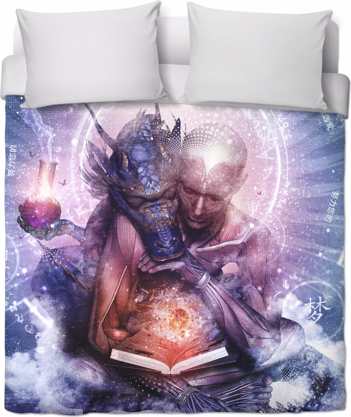 Perhaps The Dreams Are of Soulmates  Duvet Cover- Duvet Bed Cover