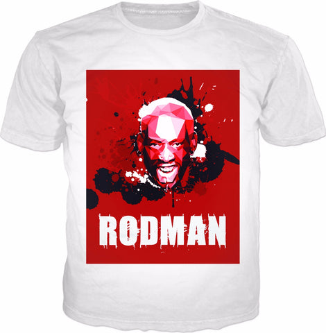 Red Rodman Classic White T-Shirt